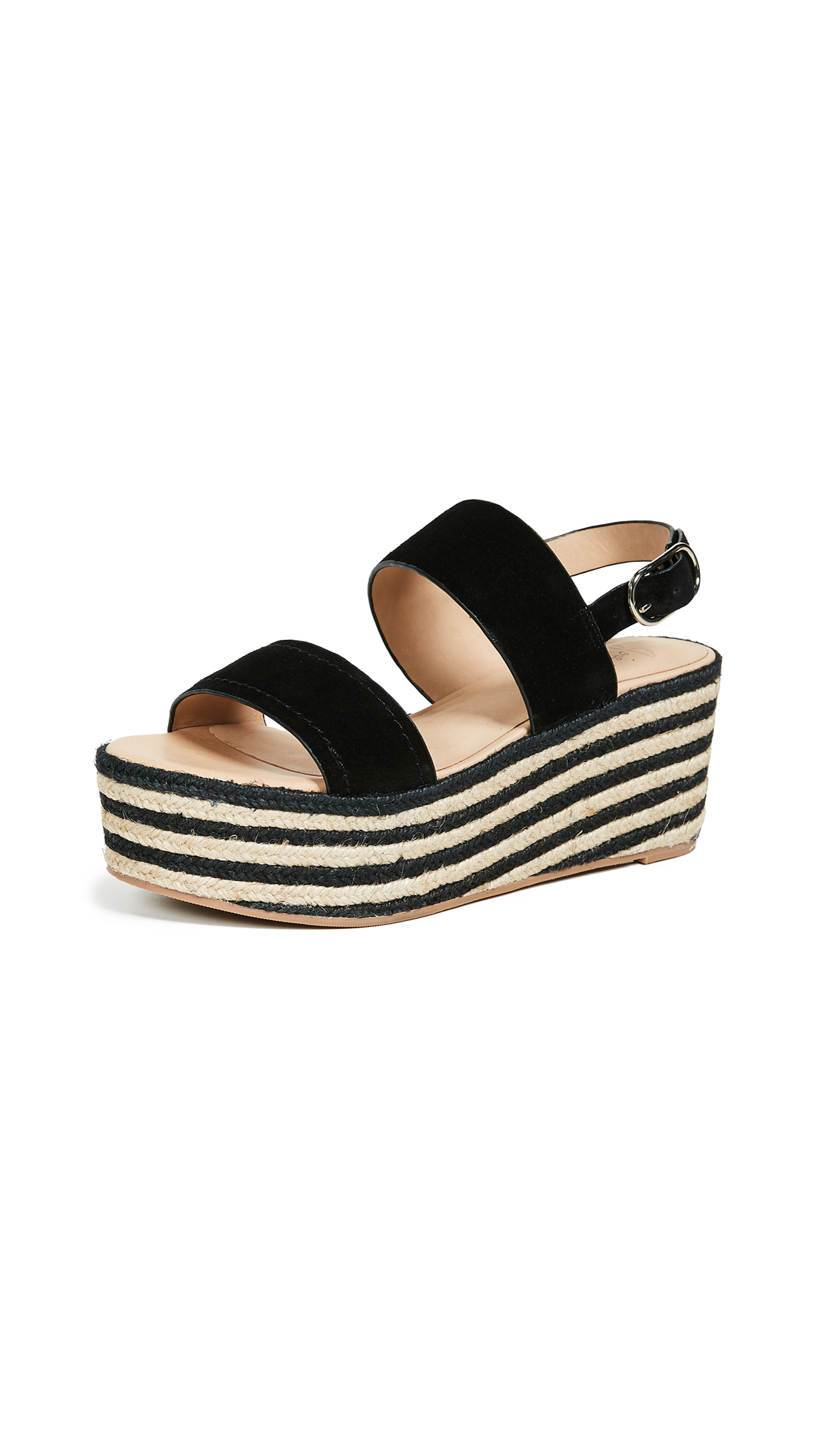 Joie Galicia Two Band Wedges - Nero