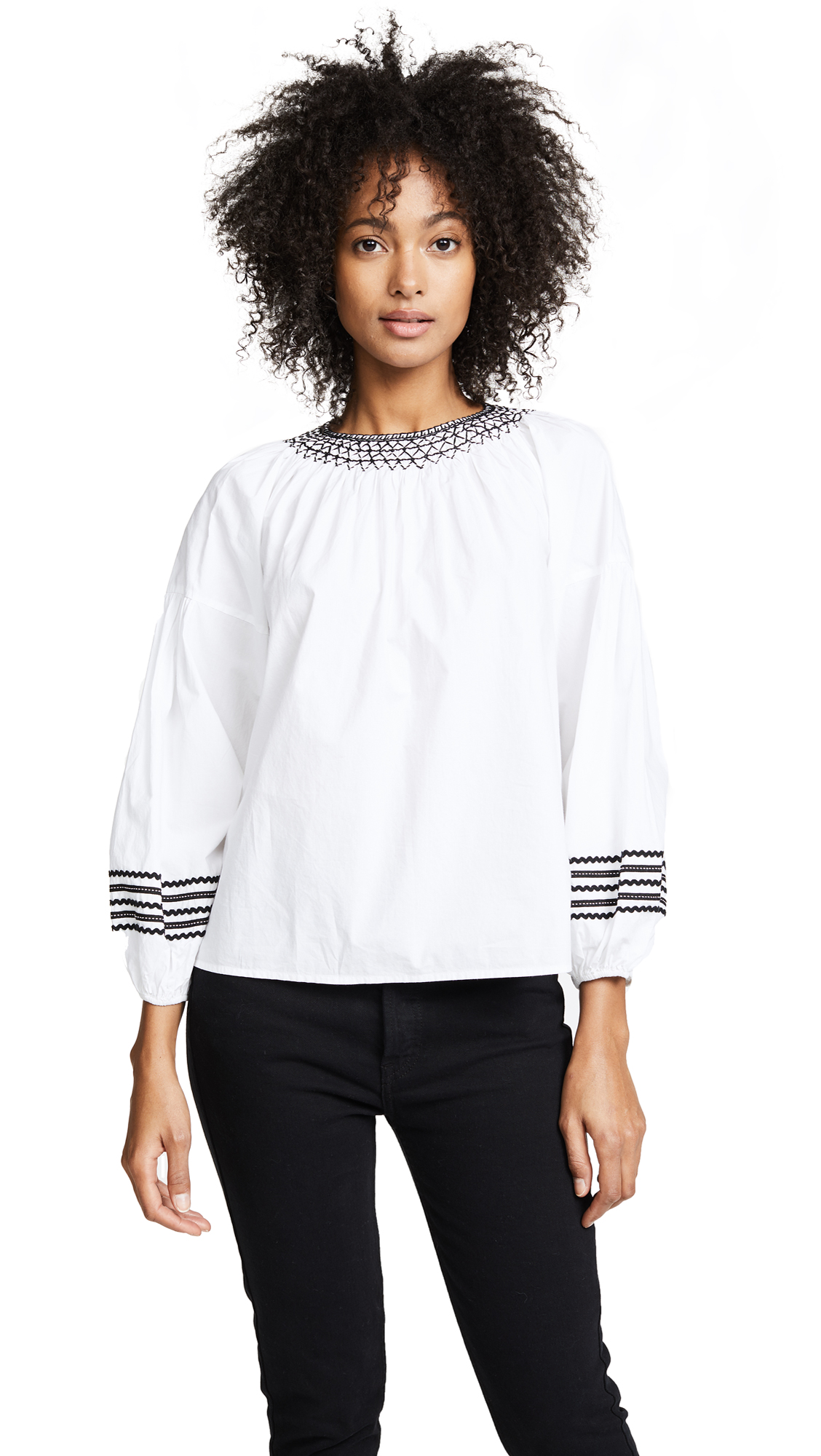 Joie Ghada Blouse In Clean White