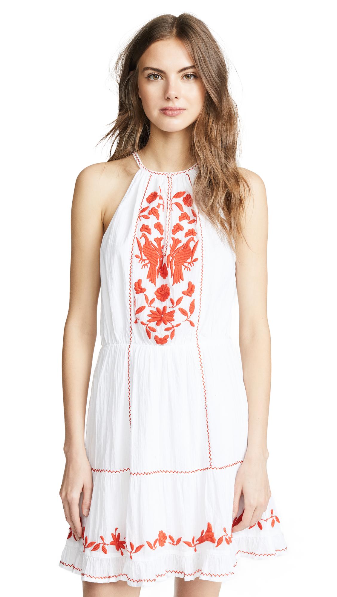 Joie Clemency Dress In Clean White/Salsa