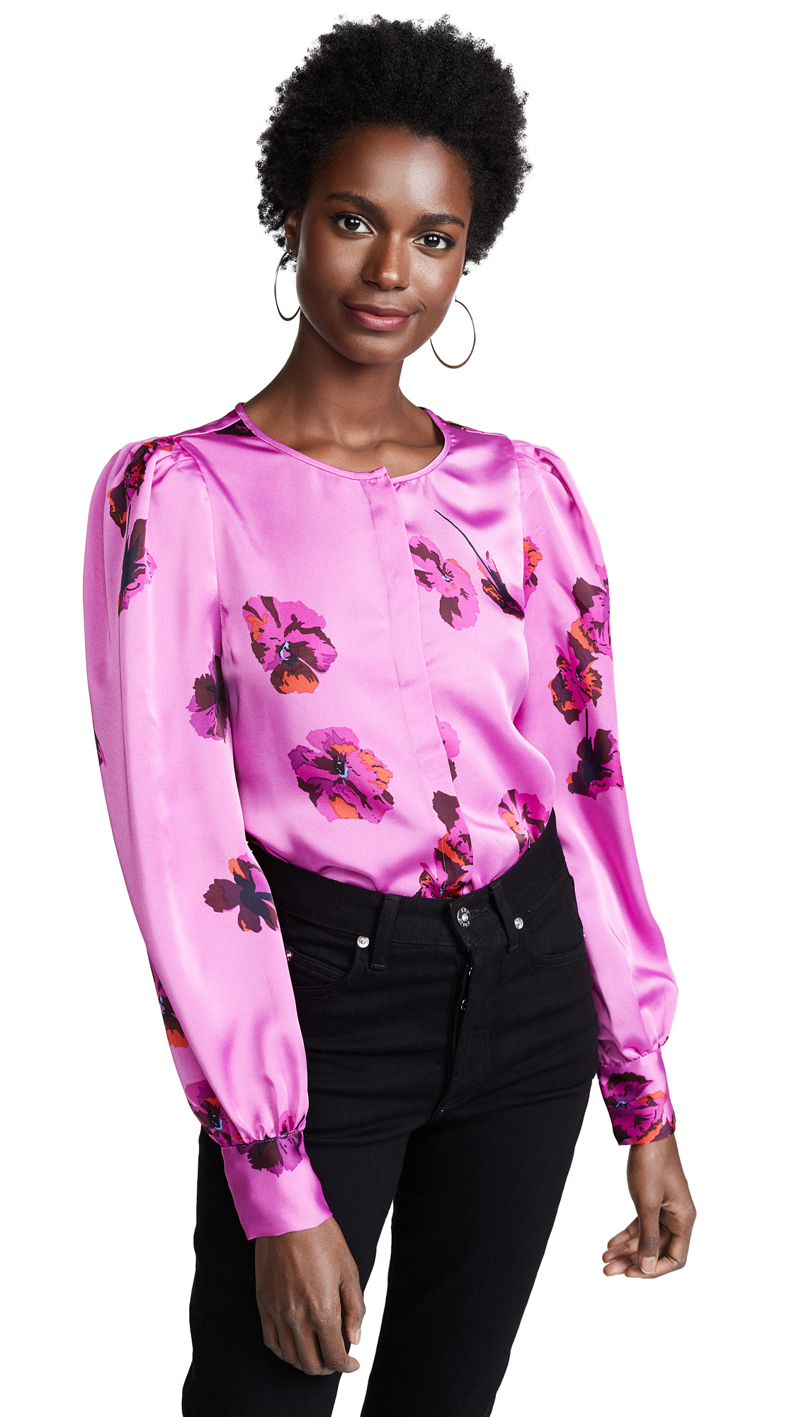 Joie Antonela Button Down Shirt In Orchid