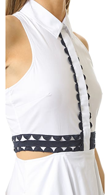 Jonathan Simkhai Cutout Trim Shirtdress