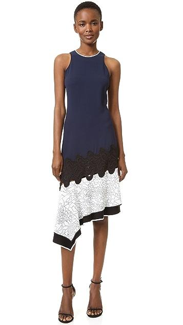Jonathan Simkhai Asymmetrical Constellation Dress
