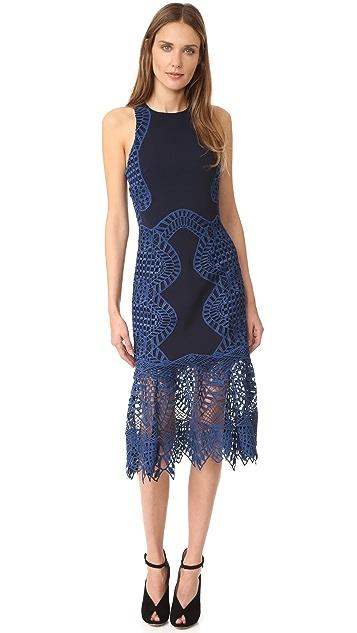Jonathan Simkhai Lace Trim Halter Dress