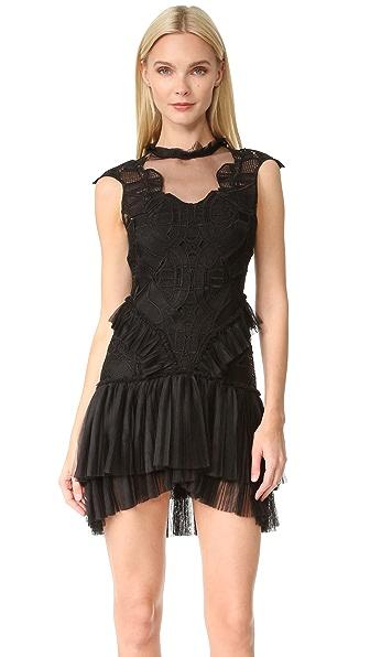 Jonathan Simkhai Delicate Layered Ruffle Contour Dress online sales