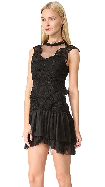 Jonathan Simkhai Delicate Layered Ruffle Contour Dress