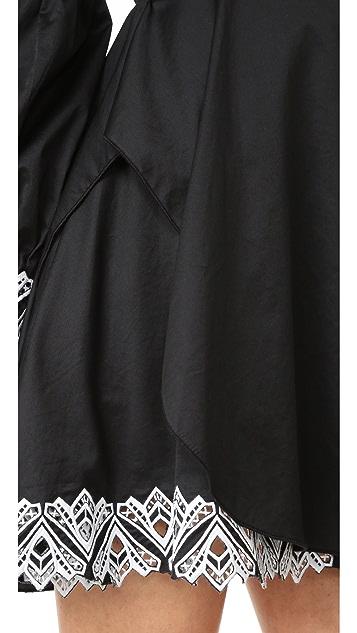 Jonathan Simkhai Embroidered Ruffle Dress