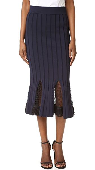 Jonathan Simkhai Deep Rib Trumpet Skirt