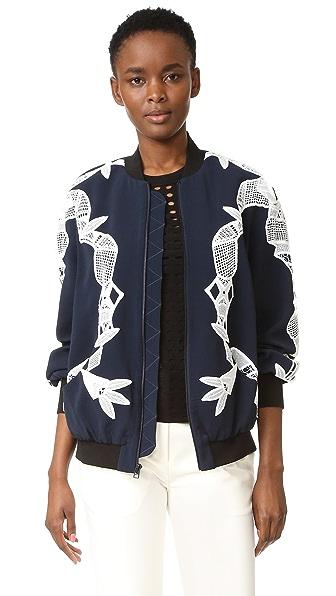 Jonathan Simkhai Bomber Jacket with Applique