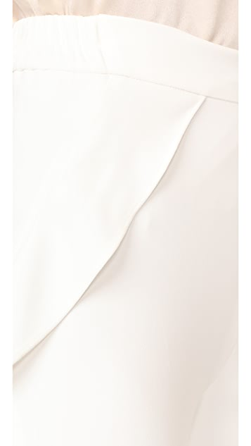 Jonathan Simkhai Cocktail Stretch Ruffle Crop Pants