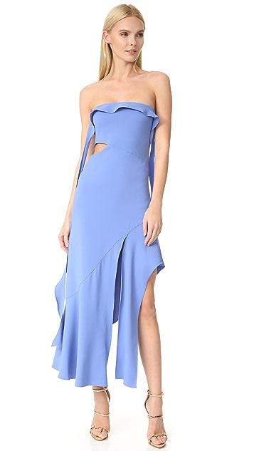 Jonathan Simkhai Cocktail Stretch Strapless Gown
