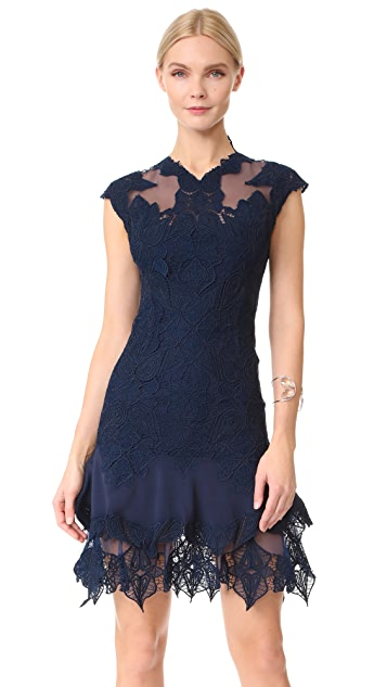 Jonathan Simkhai Multimedia Corded Mini Ruffle Dress