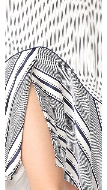 Jonathan Simkhai Multimedia High / Low Dress