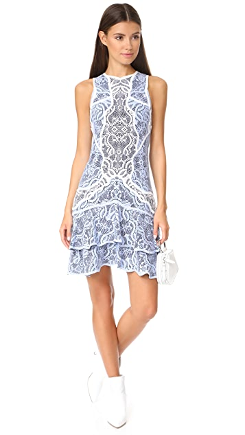 Jonathan Simkhai Two Tone Lace Mini Dress