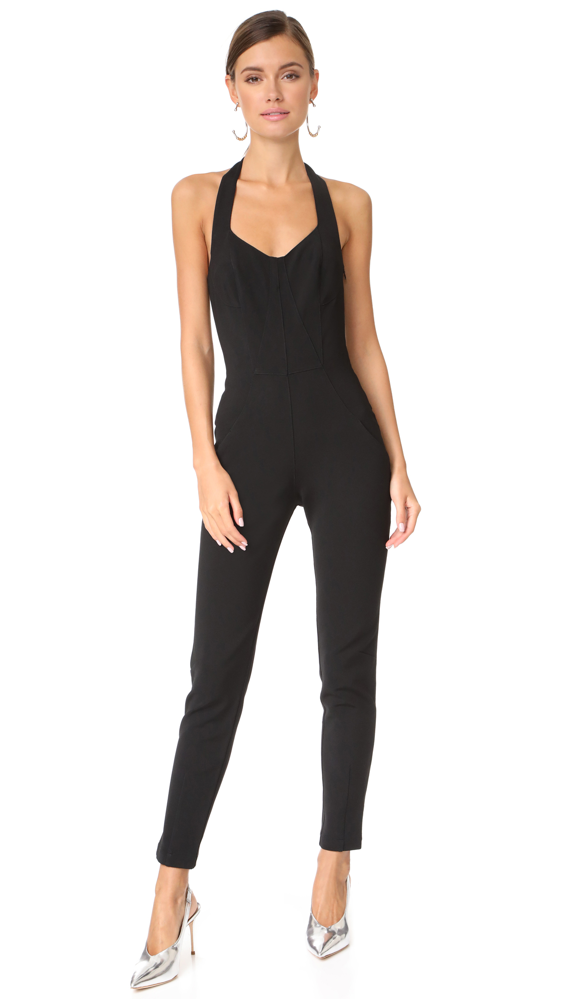 Jonathan Simkhai Bodycon Elastania Jumpsuit - Black