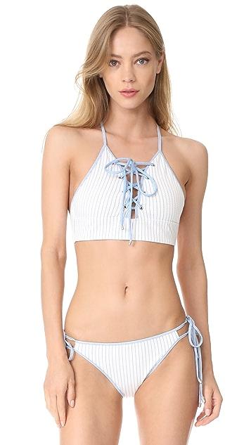 Jonathan Simkhai Grommet String Bikini Bottoms