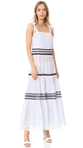 Jonathan Simkhai Tie Layered Maxi Dress