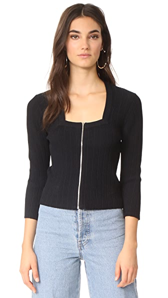 Jonathan Simkhai Released Rib Crop Top - Black