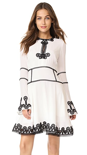 Jonathan Simkhai Mixed Trim Silk Dress