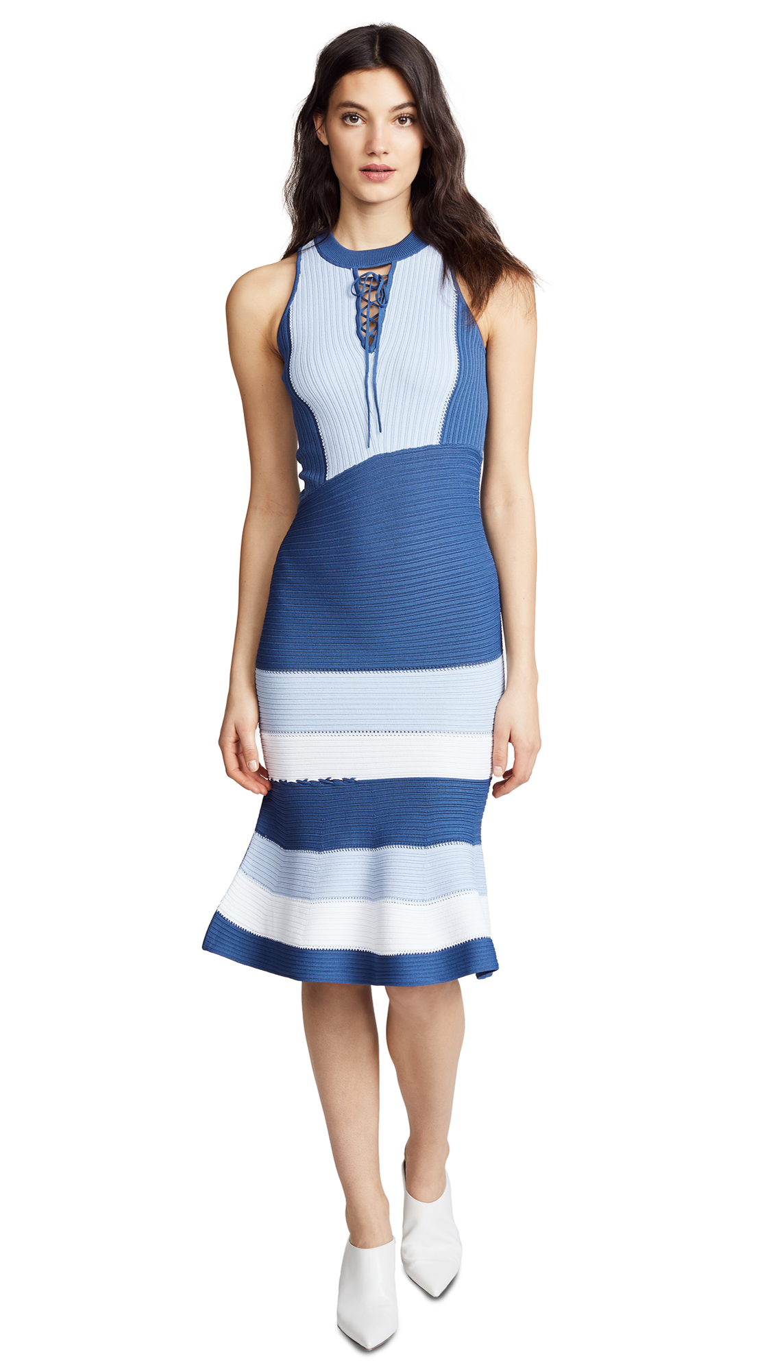 Jonathan Simkhai Linked Rib Asymmetric Dress
