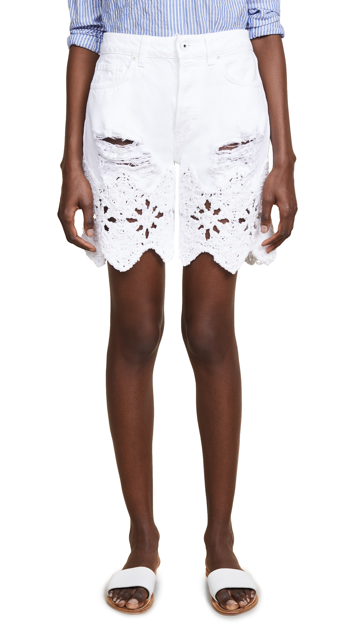 Jonathan Simkhai Macrame Boyfriend Shorts