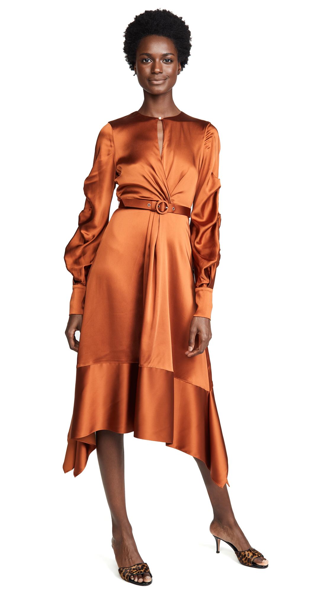 Jonathan Simkhai Satin Keyhole Midi Dress