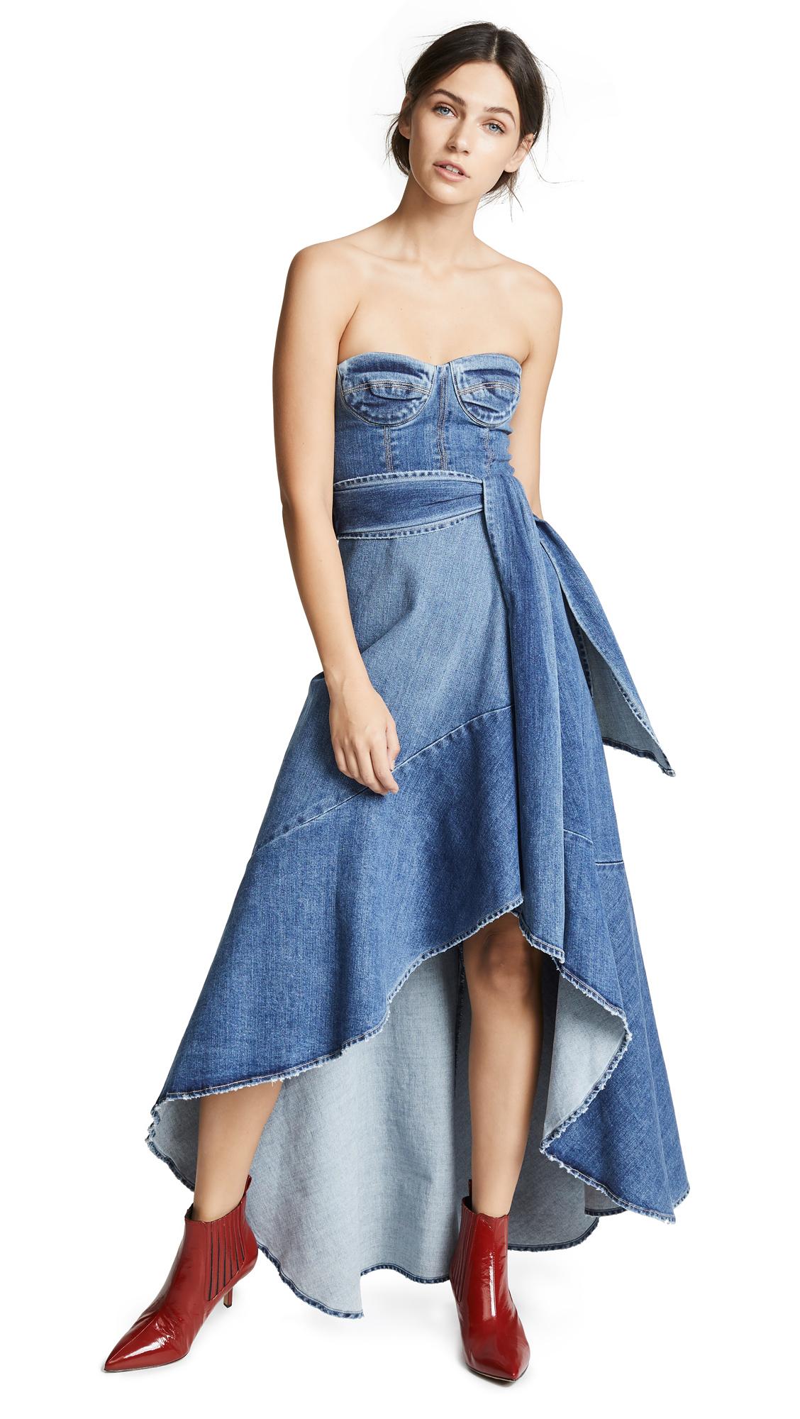 Jonathan Simkhai Classic Denim Bustier Dress