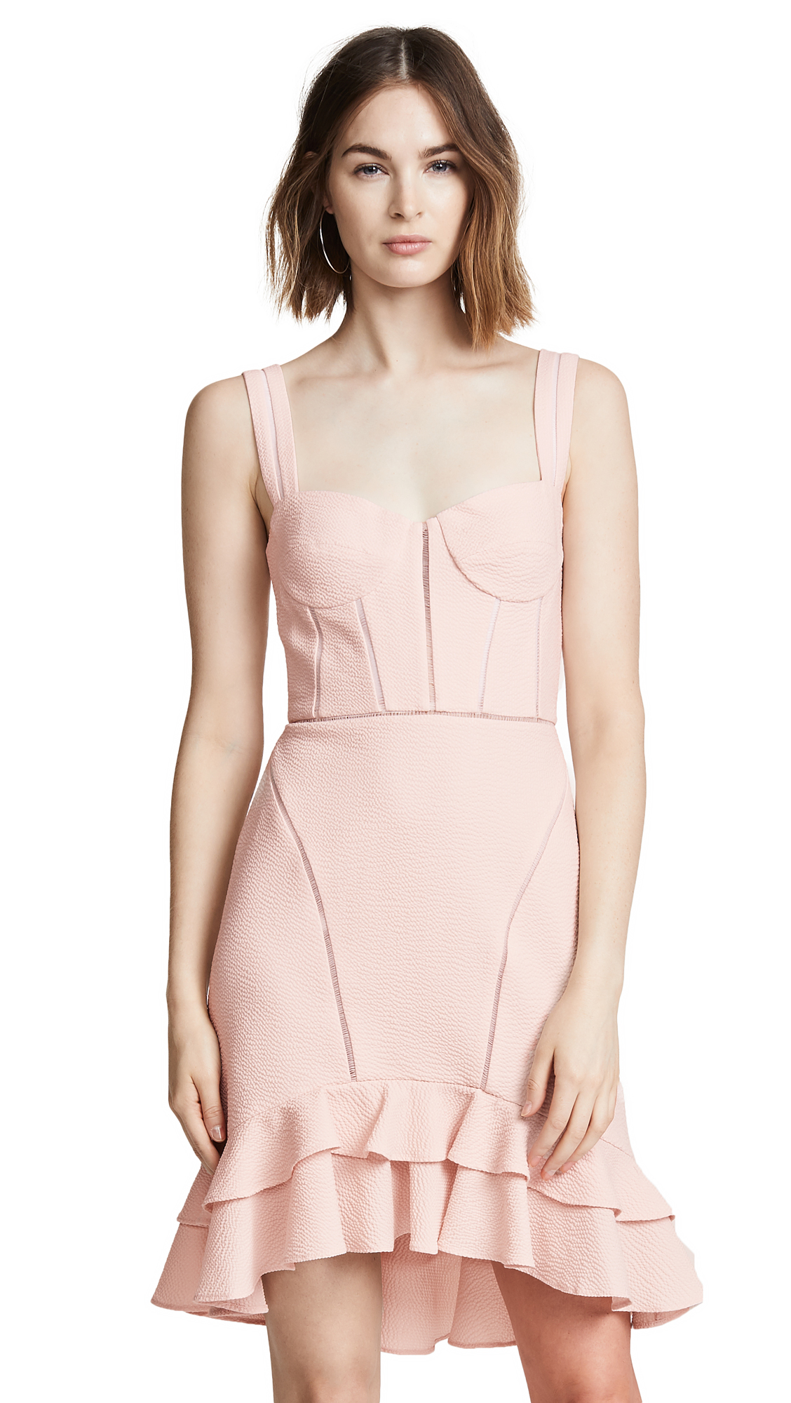 Jonathan Simkhai Seersucker Bustier Dress