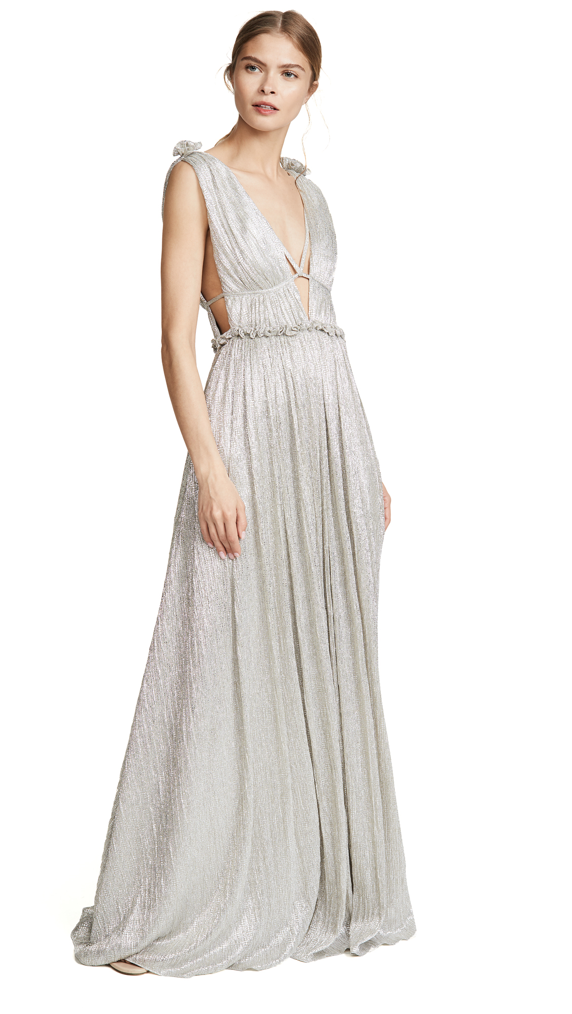 Buy Jonathan Simkhai online - photo of Jonathan Simkhai Open Neck Maxi Dress