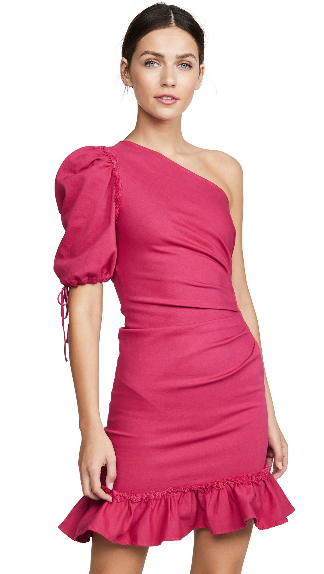 Buy Jonathan Simkhai online - photo of Jonathan Simkhai One Shoulder Denim Dress