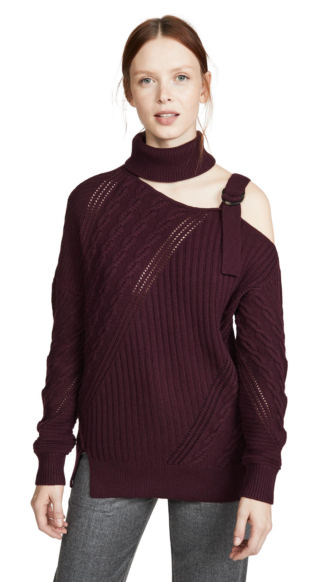 Buy Jonathan Simkhai online - photo of Jonathan Simkhai Strapped Wool Asymmetric Sweater