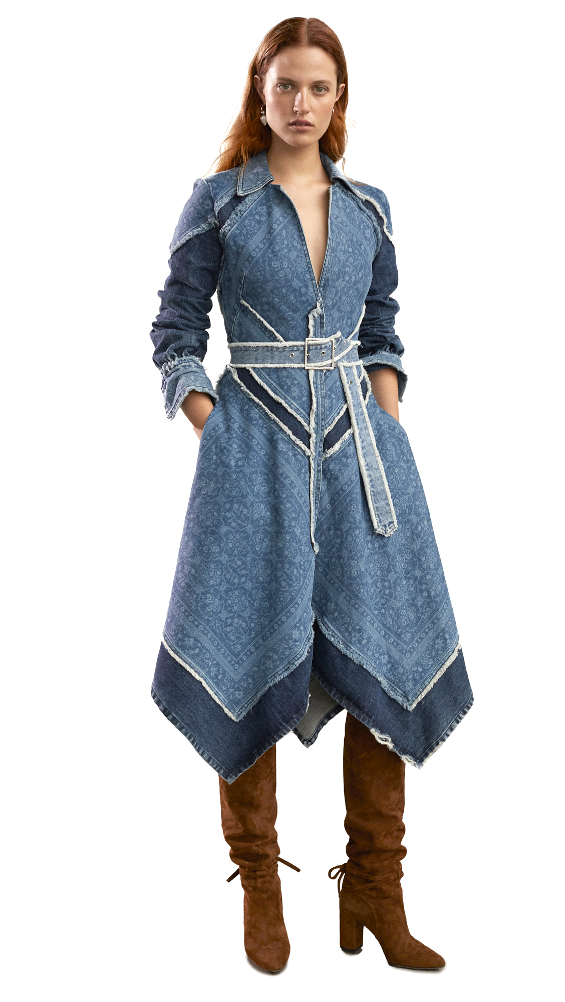 Buy Jonathan Simkhai online - photo of Jonathan Simkhai Denim Handkerchief Dress
