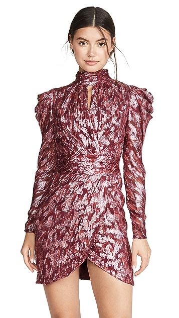 Jonathan Simkhai Metallic Vine Mock Neck Dress