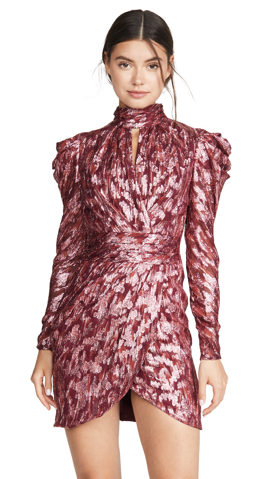 Jonathan Simkhai Metallic Vine Mock Neck Dress – 50% Off Sale