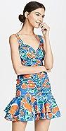 Jonathan Simkhai Havana Ruched Ruffle Dress