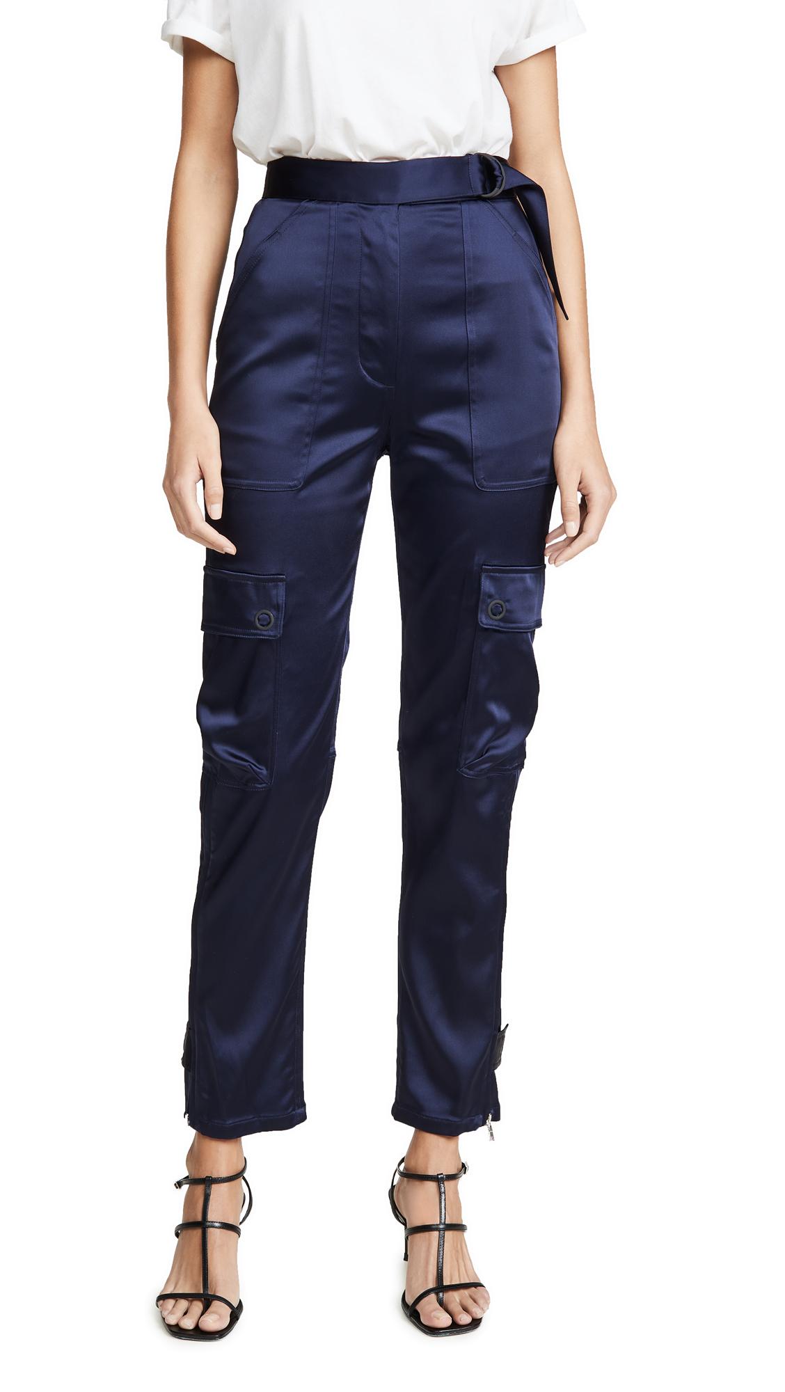 Buy Jonathan Simkhai online - photo of Jonathan Simkhai Structured Sateen Utility Pants