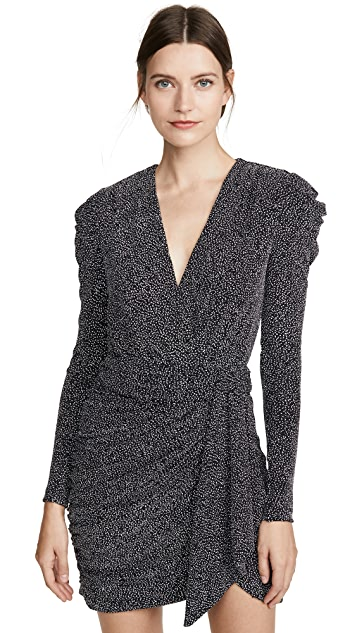 Jonathan Simkhai Glitter Jersey Deep V Mini Dress