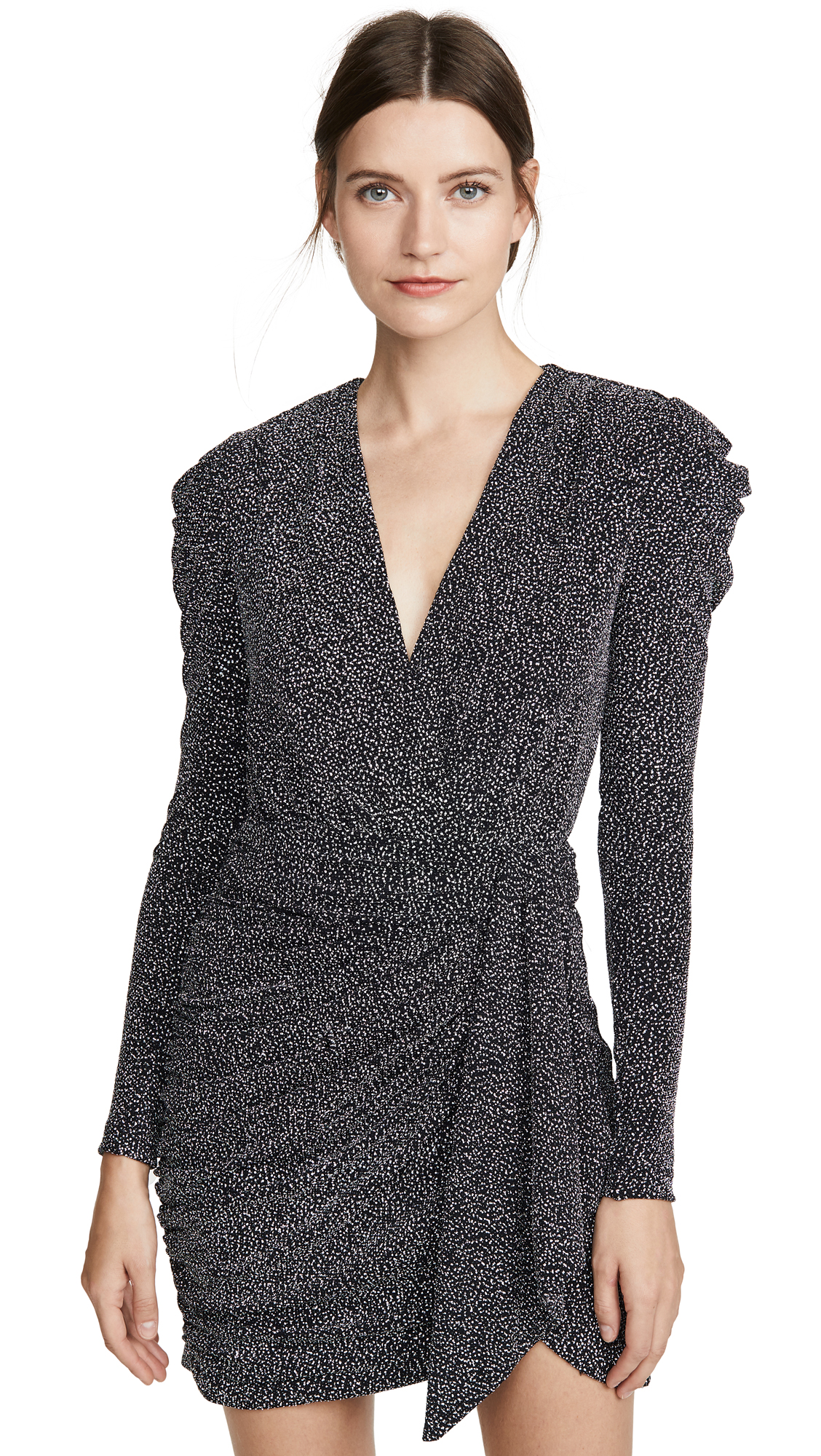 Buy Jonathan Simkhai online - photo of Jonathan Simkhai Glitter Jersey Deep V Mini Dress