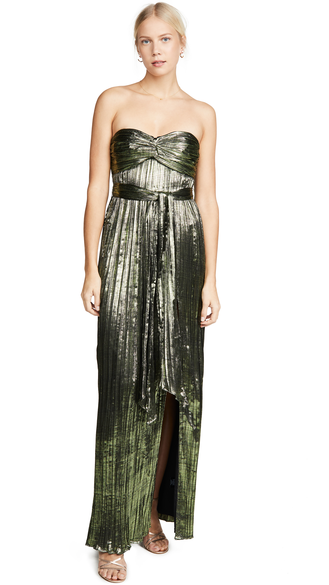 Buy Jonathan Simkhai online - photo of Jonathan Simkhai Metal Plissé Strapless Gown