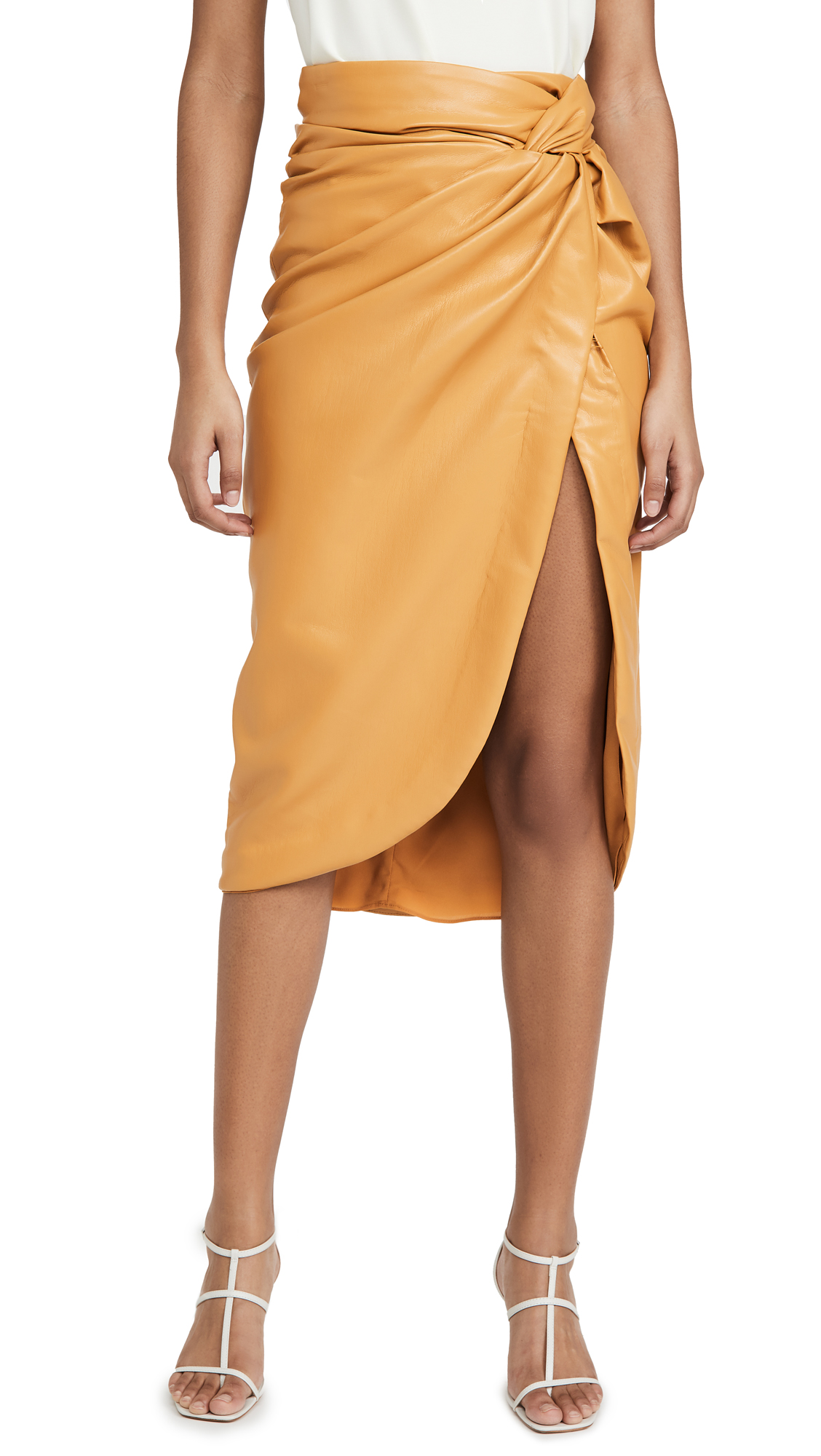 Buy Jonathan Simkhai online - photo of Jonathan Simkhai Vegan Leather Twist Skirt