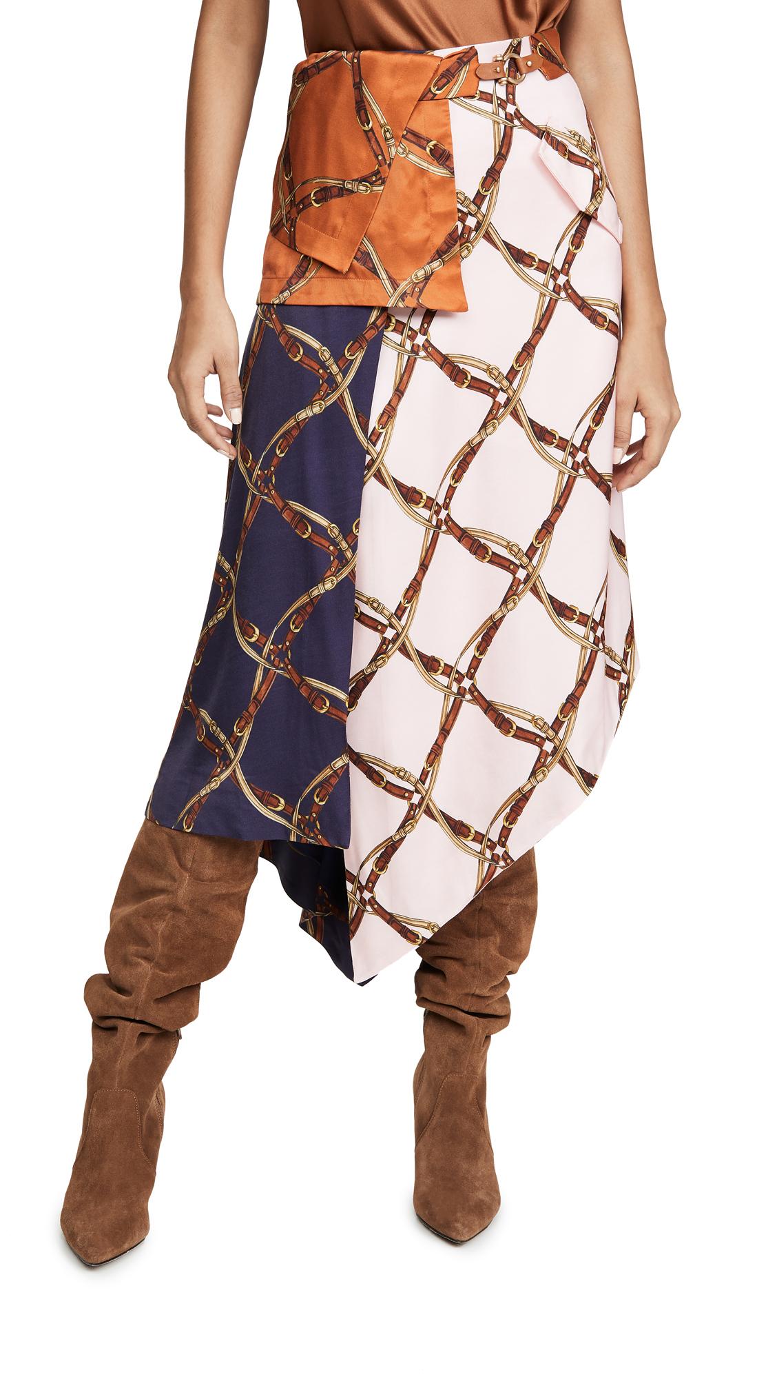 Buy Jonathan Simkhai online - photo of Jonathan Simkhai Saddle Print Handkercheif Skirt