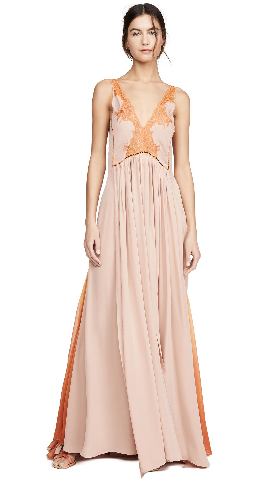 Buy Jonathan Simkhai Ombre Chiffon Fire Gown online beautiful Jonathan Simkhai Dresses, Strapless