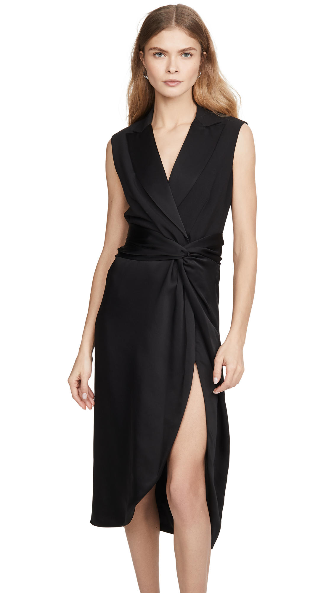 Jonathan Simkhai Luxe Satin Combo Twist Dress – 30% Off Sale