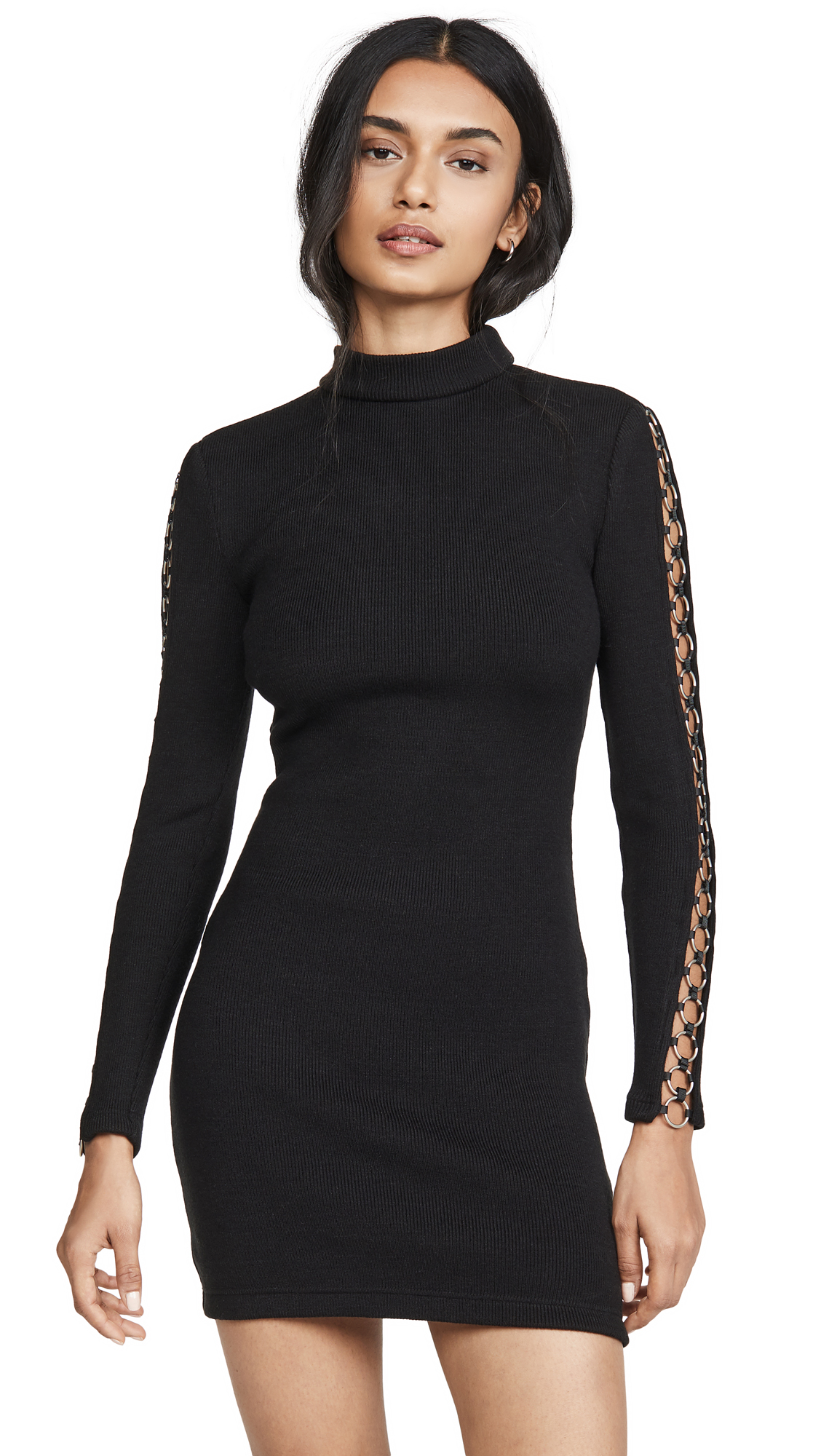 Jonathan Simkhai Directional Rib Long Sleeve Mini Dress - 50% Off Sale