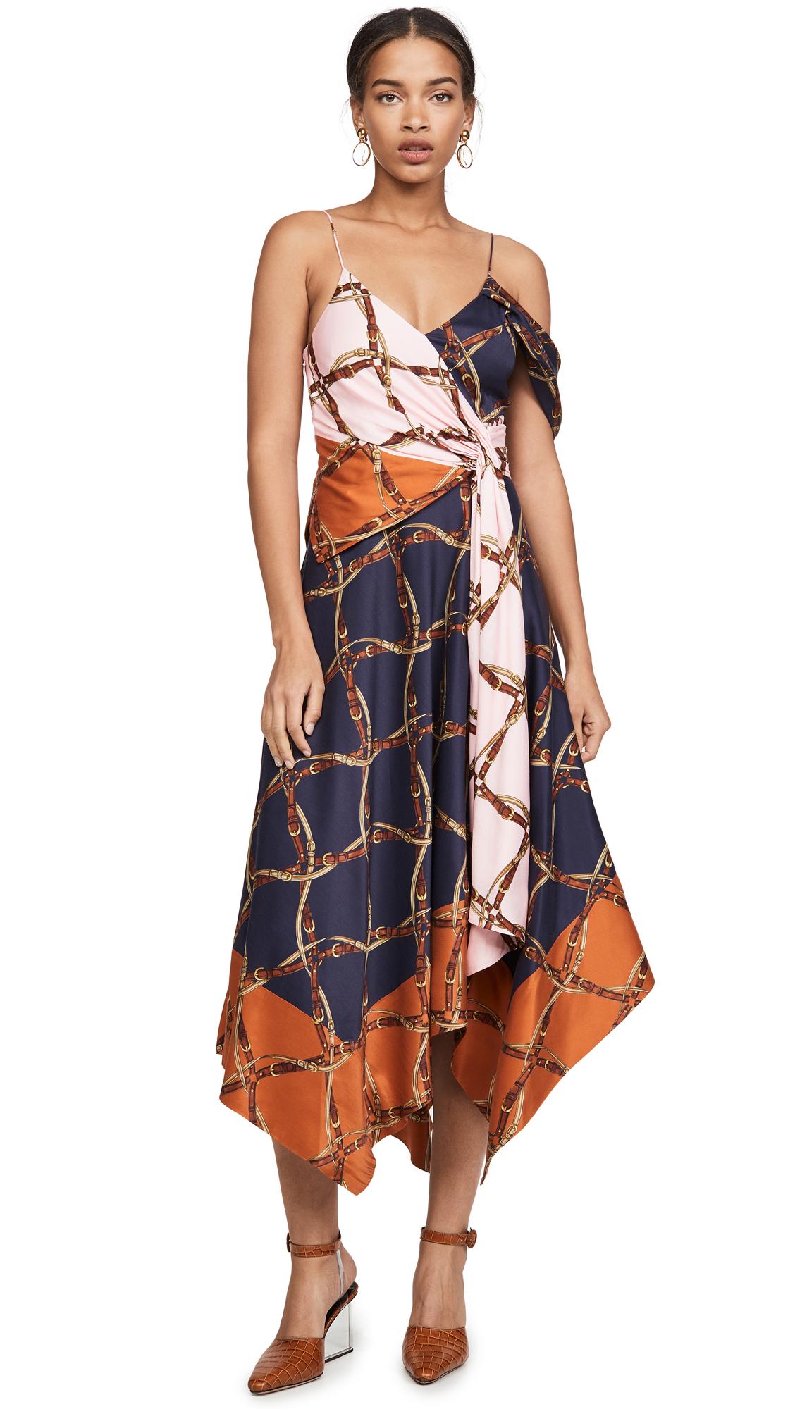 Buy Jonathan Simkhai online - photo of Jonathan Simkhai Saddle Print Print Asymmetric Dress