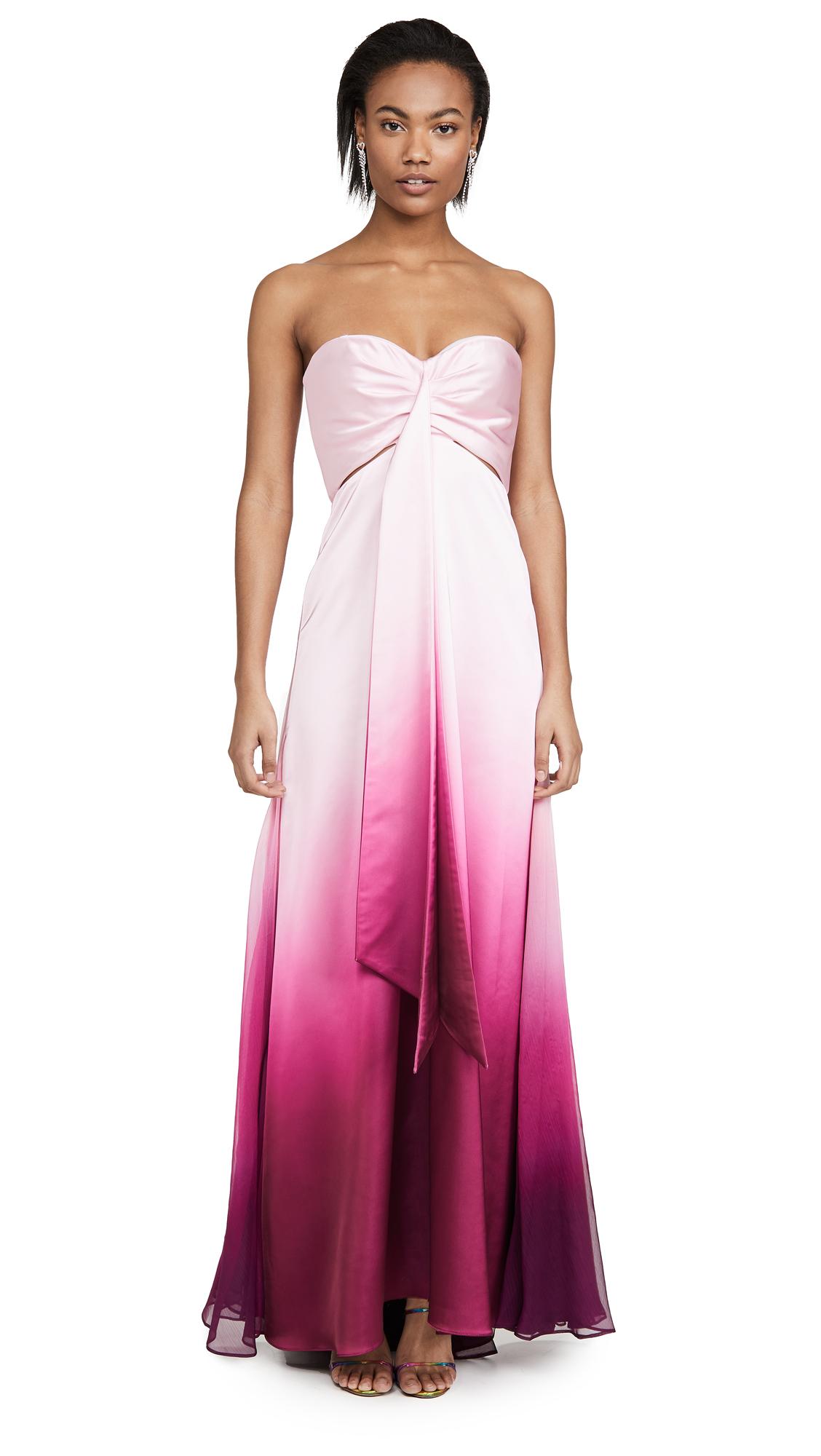 Buy Jonathan Simkhai online - photo of Jonathan Simkhai Ombre Satin Cutout Bustier Gown