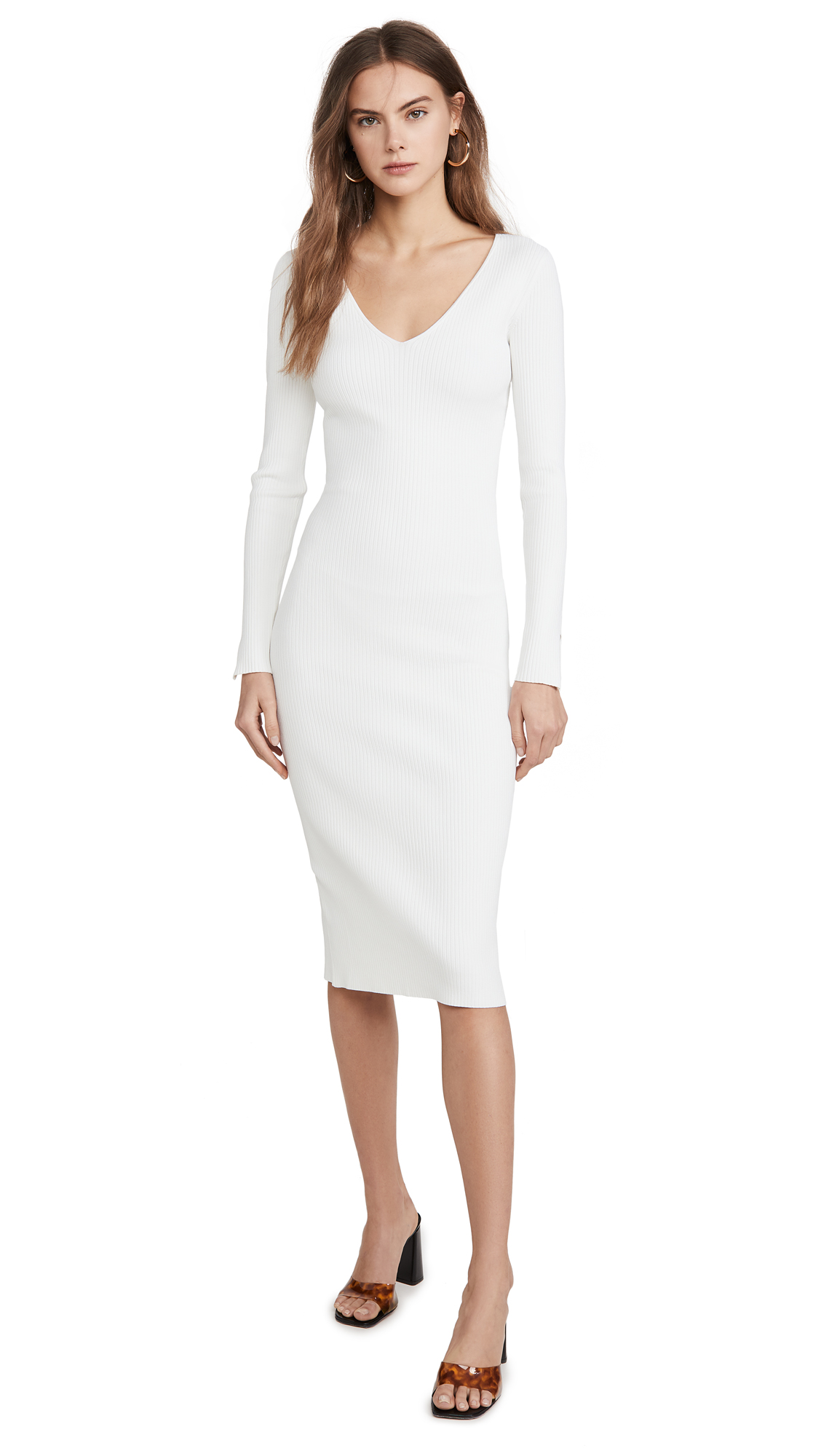 Jonathan Simkhai Deep Rib Open Neck Dress - 30% Off Sale