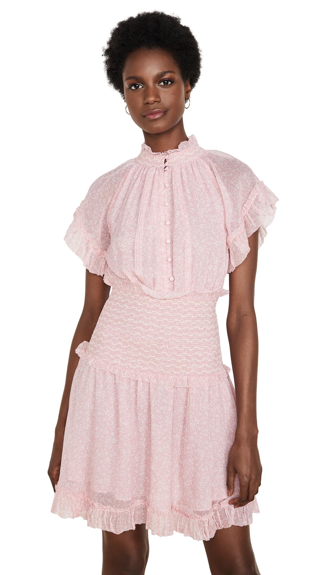 Jonathan Simkhai Serena Floral Crinkle Chiffon Dress - 30% Off Sale