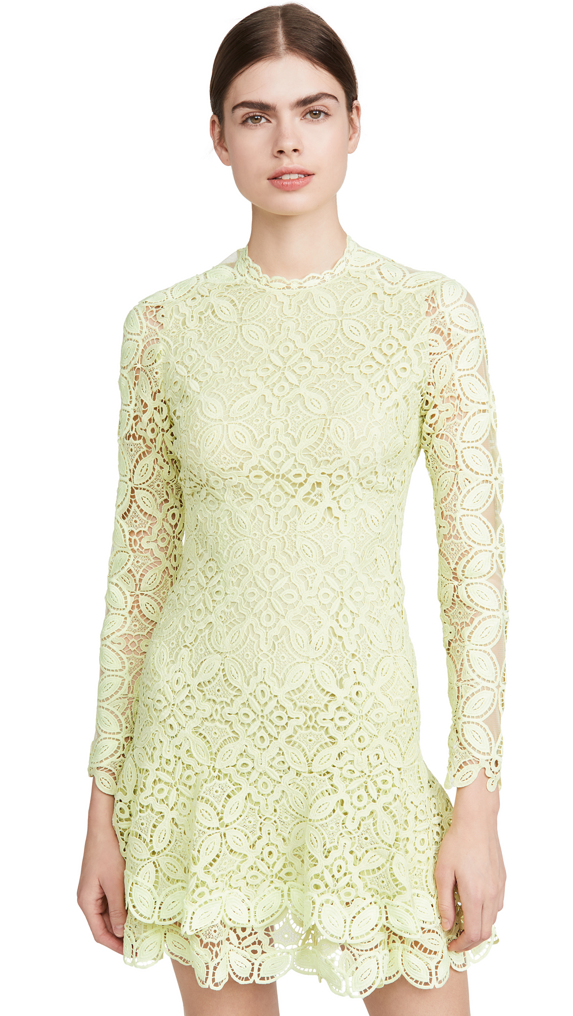 Buy Jonathan Simkhai Guipure Lace Long Sleeve Mini Dress online beautiful Jonathan Simkhai Dresses, Strapless