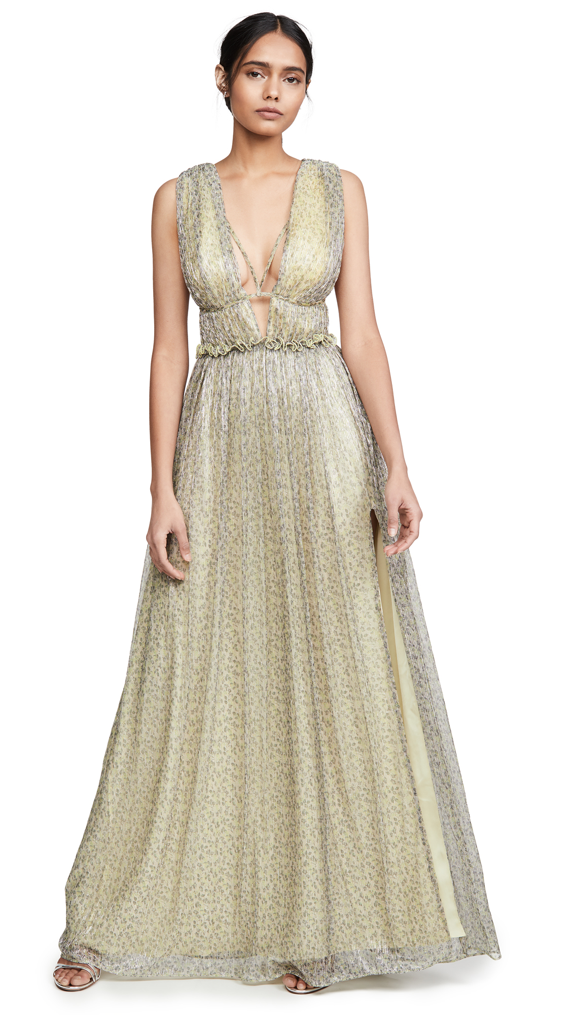 Jonathan Simkhai Plisse Pleats Open Neck Maxi Dress - 55% Off Sale