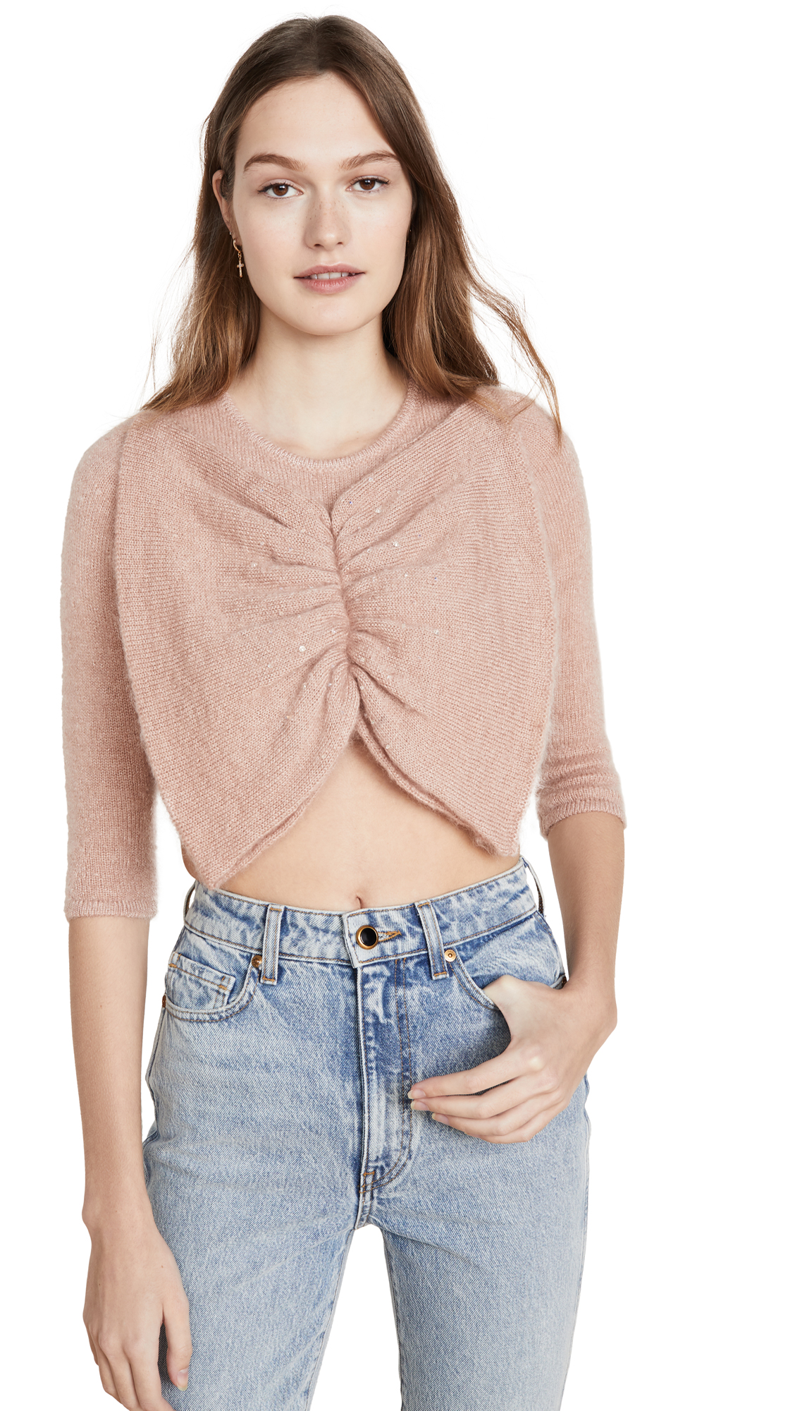 Buy JoosTricot online - photo of JoosTricot Bow Crop Mohair Sweater